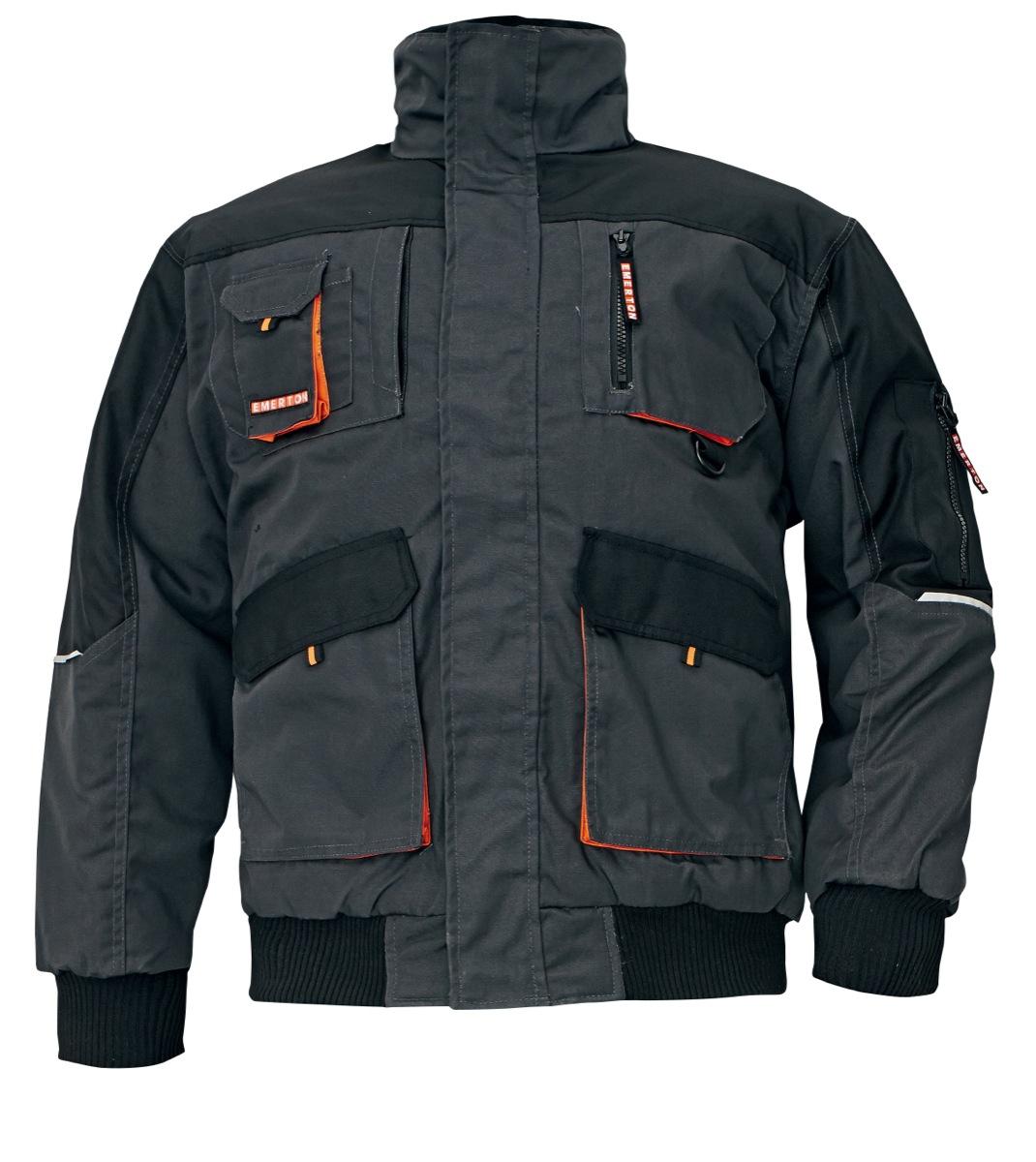 Zateplená bunda EMERTON PILOT černá